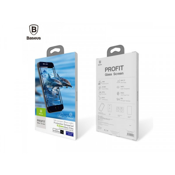 Защитное стекло Baseus 3D Silk Screen для iPhone 7/8 White