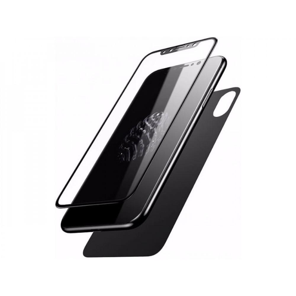 Защитное стекло 2 в 1 Baseus для iPhone X/XS/11 Pro Black