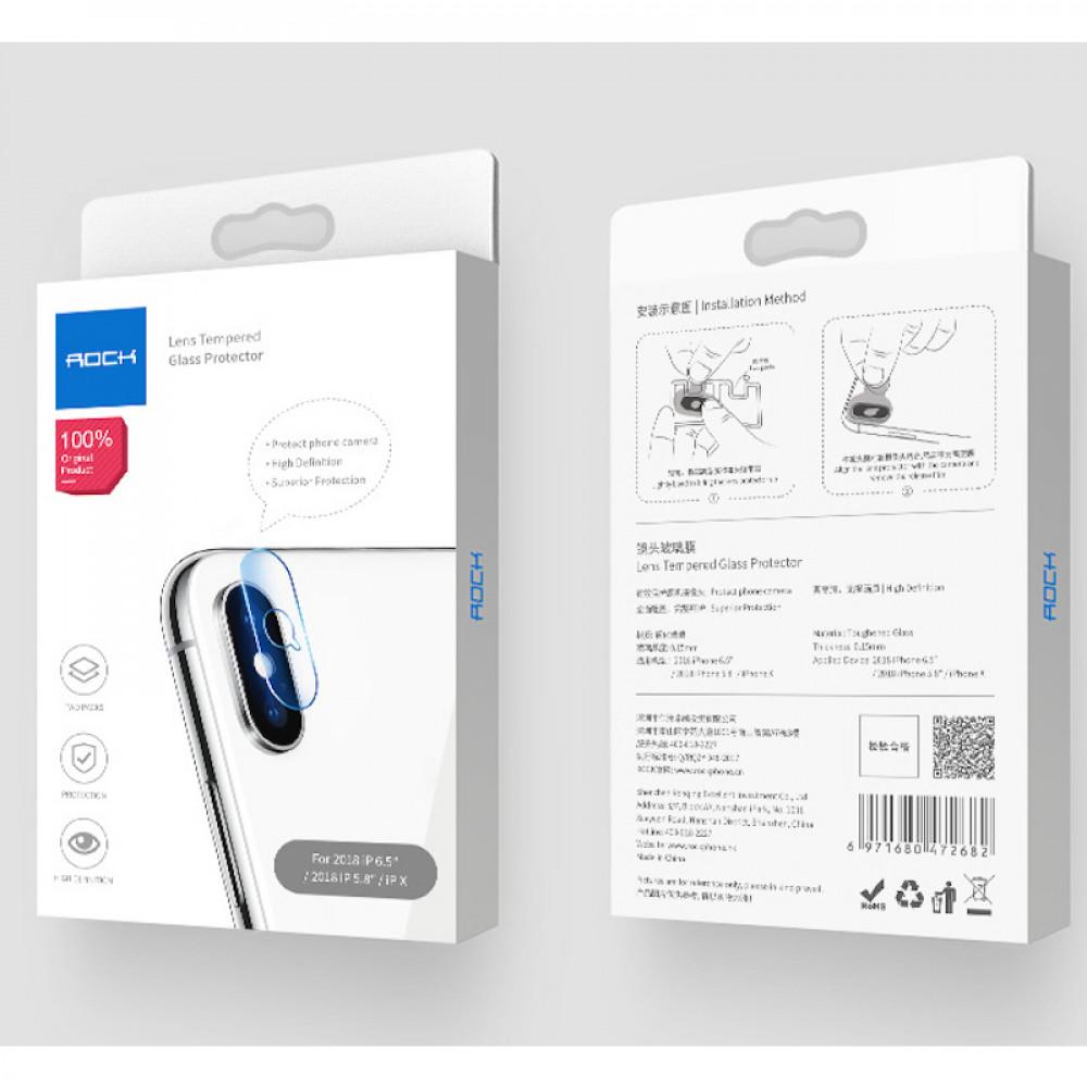 Защитное стекло на камеру Rock для iPhone XS Max/XS/X (6971680472682)