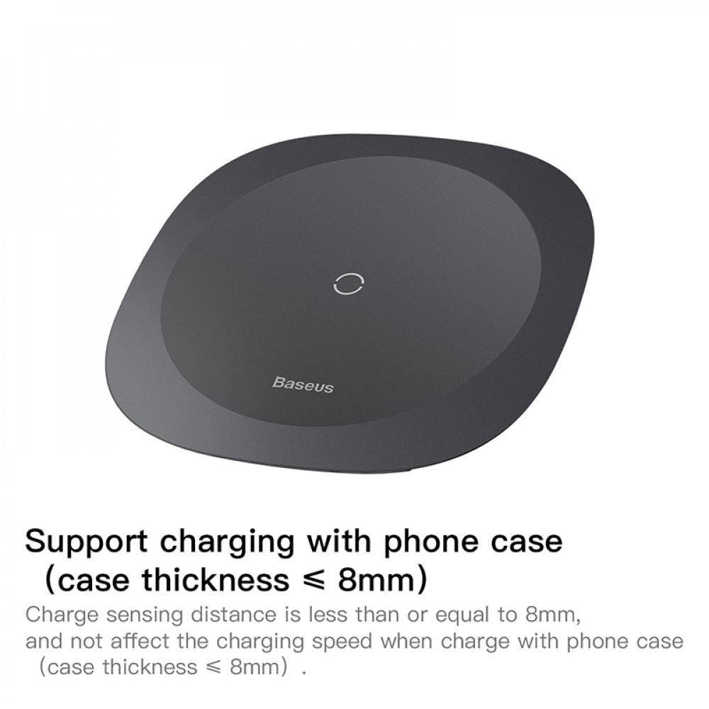 Беспроводная зарядка Baseus Square-circle Wireless Charger Black