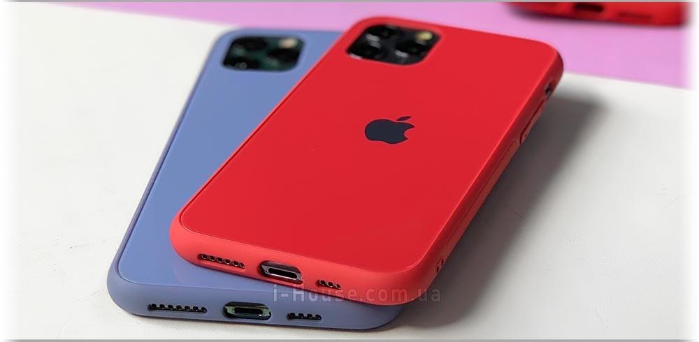 Стеклянный чехол Glass Pastel Case на айфон