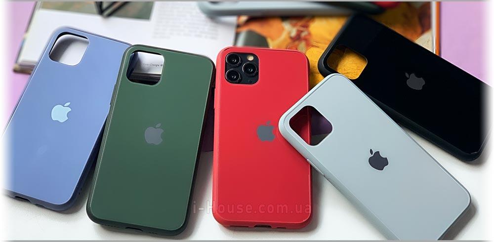 Стеклянный чехол Glass Pastel Case для iPhone