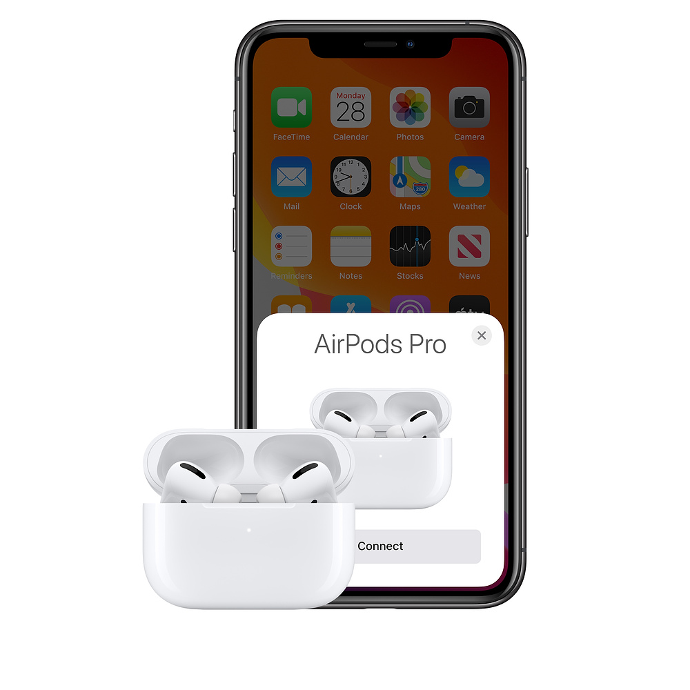 Наушники AirPods Pro подключены к iPhone