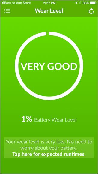 Battery Life для iPhone узнать емкость батареи