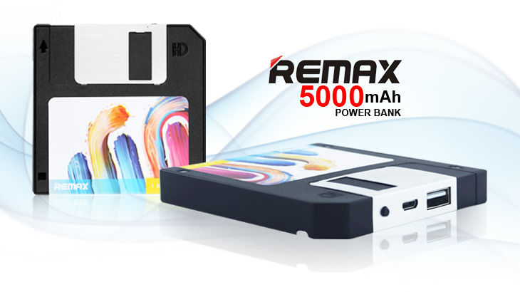 REMAX Floppy Disk Power Bank RPP-17 5000mAh Black
